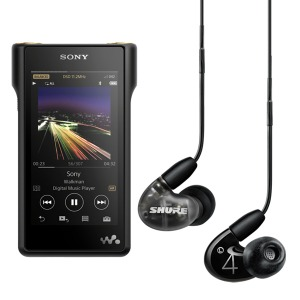 SONY HRA 워크맨 NW-WM1A 128GB + SHURE AONIC 4